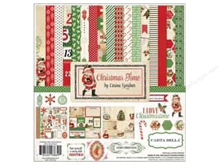 Carta Bella Caption Stickers / Frame Stickers: Carta Bella Collection Kit 12 x 12 in. Christmas Time