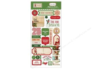 Carta Bella Dimensional Stickers: Carta Bella Chipboard Accents Christmas Time