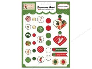 Brads $5 - $6: Carta Bella Decorative Brads Christmas Time 29 pc.