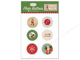 Carta Bella inches: Carta Bella Flair Buttons Christmas Time