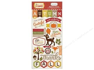 Autumn Leaves Stickers: Carta Bella Chipboard Accents Perfect Autumn