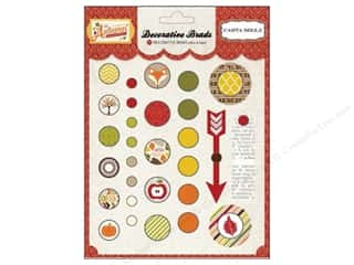 Carta Bella $0 - $5: Carta Bella Decorative Brads Perfect Autumn 29 pc.