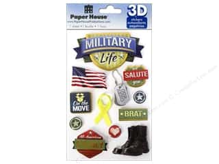 3D Stickers: Paper House Sticker 3D Military Life