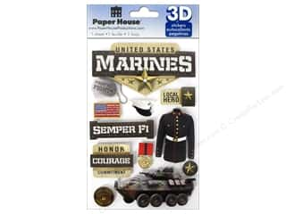 Chains Brown: Paper House Sticker 3D Marines