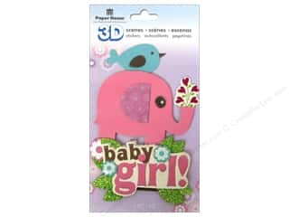 scene $3 - $6: Paper House Sticker 3D Baby Girl Scene