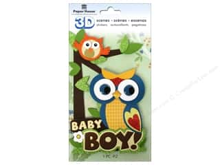 scene $3 - $6: Paper House Sticker 3D Baby Boy Scene