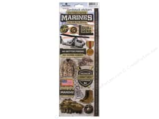 Transportation Stickers: Paper House Sticker Cardstock United States Marine