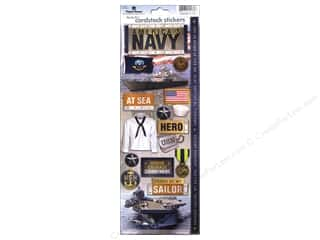 Paper House Sticker Cardstock United States Navy