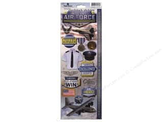 Scrapbooking Americana: Paper House Sticker Cardstock United States Air Force