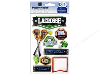 House of White Birches 11 in: Paper House Sticker 3D Lacrosse