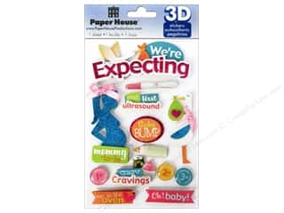 House of White Birches Baby: Paper House Sticker 3D We're Expecting