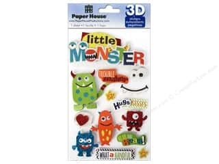 Eyes Children: Paper House Sticker 3D Little Monster