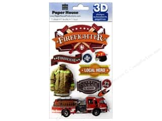 Paper House Sticker 3D Firefighter