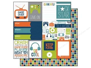 Echo Park 12 x 12 in. Paper Game On Journaling (15 piece)