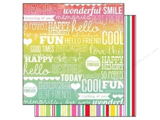 Echo Park 12 x 12 in. Paper Best Friends Forever Words (15 piece)