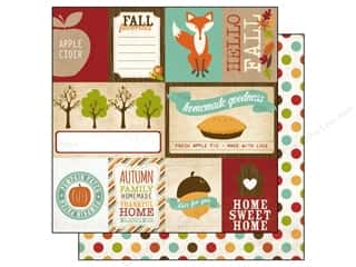 Fall / Thanksgiving Echo Park 12 x 12 in. Paper: Echo Park 12 x 12 in. Paper I Heart Fall Collection Journaling (15 pieces)