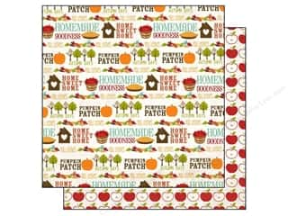 Paper House Fall / Thanksgiving: Echo Park 12 x 12 in. Paper I Heart Fall Collection Words (15 pieces)