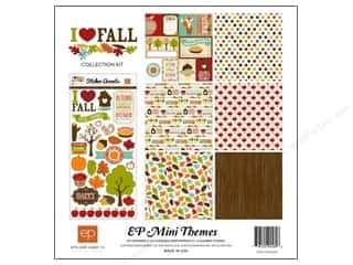 Paper Accents Burgundy: Echo Park 12 x 12 in. I Heart Fall Collection Kit