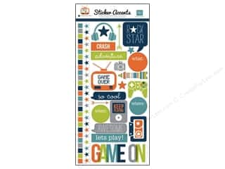 "Echo Park Paper Company Echo Park Sticker: Echo Park Sticker 6""x 12"" Game On (15 sets)"