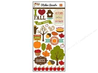 Patterns Fall / Thanksgiving: Echo Park Sticker 6 x 12 in. I Heart Fall (15 sets)