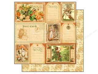 Graphic 45 Halloween: Graphic 45 Paper 12x12 An Eerie Tale Fanciful Fable (25 pieces)