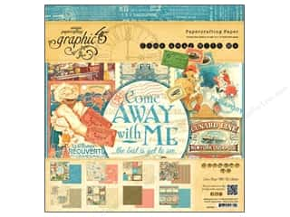 "Transportation: Graphic 45 Paper Pad Come Away With Me 12""x 12"""