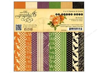 "Scrapbooking Weekly Specials: Graphic 45 Paper Pad An Eerie Tale Patterns & Solids 6""x 6"""