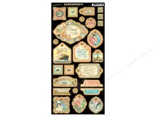 Graphic 45 Die Cut Come Away Chipboard Decorative