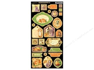 Boards Weekly Specials: Graphic 45 Die Cut An Eerie Tale Chipboard 2 Decorative