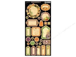 Graphic 45 Die Cut Eerie Tale Chipboard Journaling