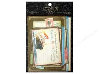 Weekly Specials $15 - $20: Graphic 45 Die Cut Come Away With Me Cards Journaling & Ephemera