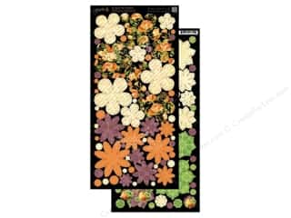 Flowers / Blossoms Halloween: Graphic 45 Cardstock Shapes An Eerie Tale Flowers