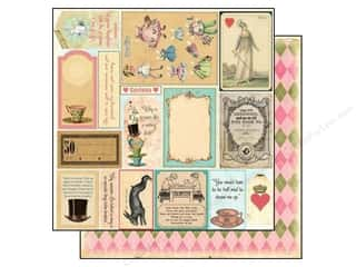 "Brown: Marion Smith Paper 12""x 12"" Mad Tea Party Cut & Create Ephemera Small (20 pieces)"