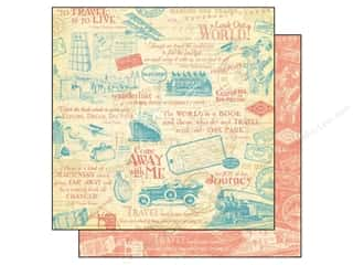 Clearance Pictura Luggage Tag: Graphic 45 Paper 12x12 Come Away With Me Wanderlust (25 sheets)