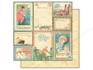 Semi-Annual Stock Up Sale: Graphic 45 Paper 12x12 Come Away With Me Vintage Voyage (25 pieces)