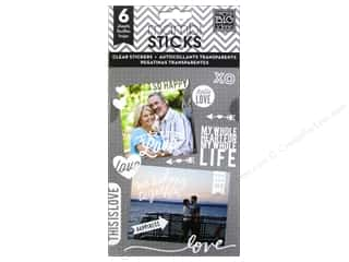 Staple Clear: Me&My Big Ideas Sticker True Love White