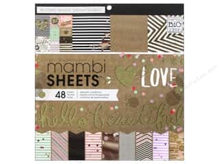 MAMBI Sheets Cardstock Pad 12 x 12 in. Gold Rush