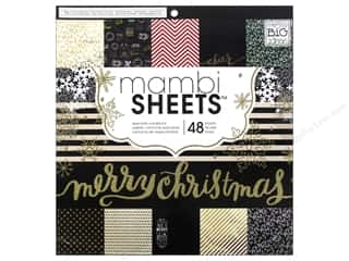 Me & My Big Ideas Christmas: Me & My Big Ideas Sheets Cardstock Pad 12 x 12 in. All That Glitters