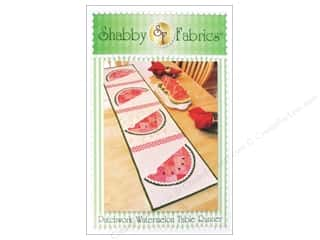 Suzn Quilts Patterns Table Runner & Kitchen Linens Patterns: Shabby Fabrics Patchwork Watermelon Table Runner Pattern