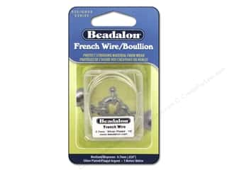 silver jewelry wire: Beadalon French Wire 0.7 mm (.028 in.) Silver Plated 1 m (39.3 in.)