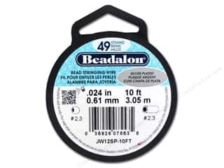 Plates Glass: Beadalon Bead Wire 49 Strand .024 in. Silver Plated 10 ft.