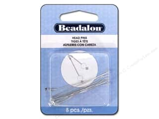 flat head pins: Beadalon Head Pins Ball & Star 2 in. Silver Plated 8 pc.