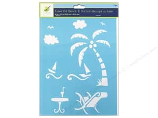 "Vacations Craft & Hobbies: Multicraft Craft Decor Stencil Laser 8""x 10"" On Holiday"
