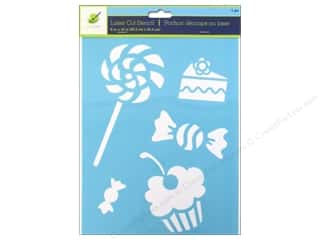 "Stencils Craft & Hobbies: Multicraft Craft Decor Stencil Laser 8""x 10"" Treats"