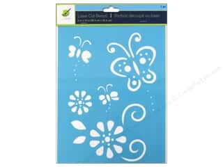 "Stenciling Clearance Crafts: Multicraft Craft Decor Stencil Laser 8""x 10"" Butterfly 1"