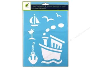 "Stencils Craft & Hobbies: Multicraft Craft Decor Stencil Laser 8""x 10"" Tugboat"