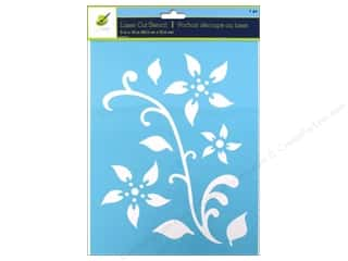 "Stencils Craft & Hobbies: Multicraft Craft Decor Stencil Laser 8""x 10"" Floral 2"