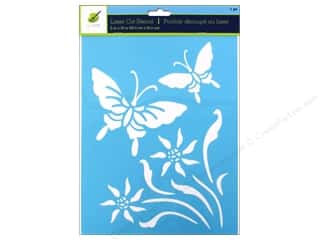 "Insects Craft & Hobbies: Multicraft Craft Decor Stencil Laser 8""x 10"" Butterfly 2"