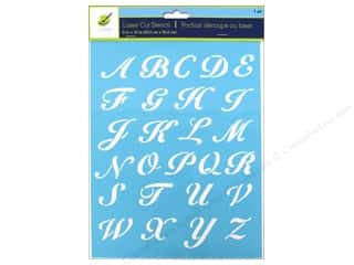 "Templates ABC & 123: Multicraft Craft Decor Stencil Laser 8""x 10"" Script Letters"