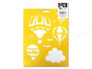 Transportation: Delta Stencil Mania 7 x 10 in. Hot Air Balloons